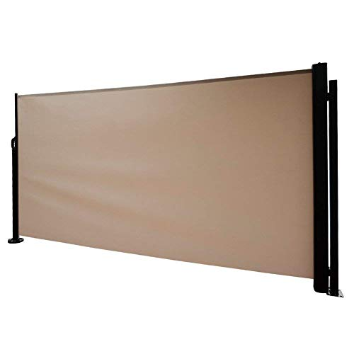Abba Patio Retractable Folding Side Awning Screen Fence Privacy Divider with Steel...