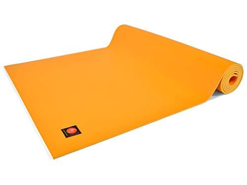 Chin Mudra Tapis de Yoga Excellence Mat - 185cm x 60cm x 6mm 100% Latex - Jaune Safran