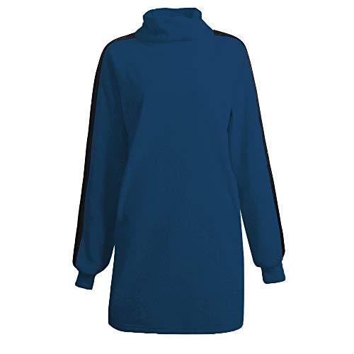 cxzas852 LGWQ Frauen Herbst und Winter Frauen Pullover Tops Stehkragen Mittellanger Pullover Pullover Faux FleeceWarm Sweatshirt