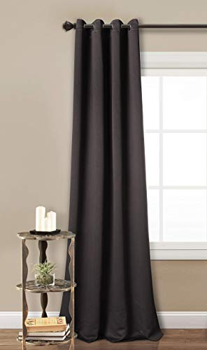 PimpamTex cortina opaca térmica aislante blackout para salón, dormitorio y habitación, con 8 ojales, 140 x 260 cm, modelo Mary (Gris marengo)