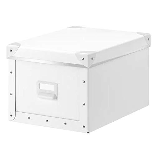 FJÄLLA IKEA Kasten mit Deckel; in weiß; (25x36x20cm)