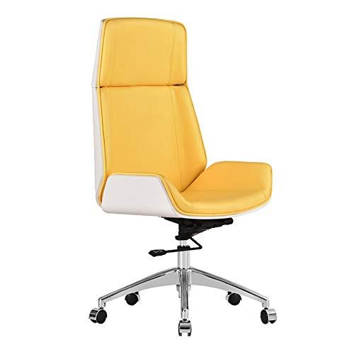 W/C/X 360 ° drehbarer Bürostuhl Negotiation Chair Nordic Moderne Minimalist Boss Stuhl Bürocomputer Stuhl Empfang Mid-Back Stuhl hohe Rückenlehne, VHF (Color : C)