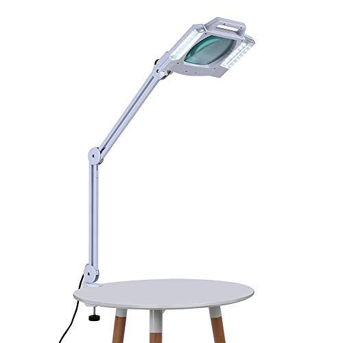 Lampada da Tavolo Professionale a 28 LED con Lente di Ingrandimento 5X,con...
