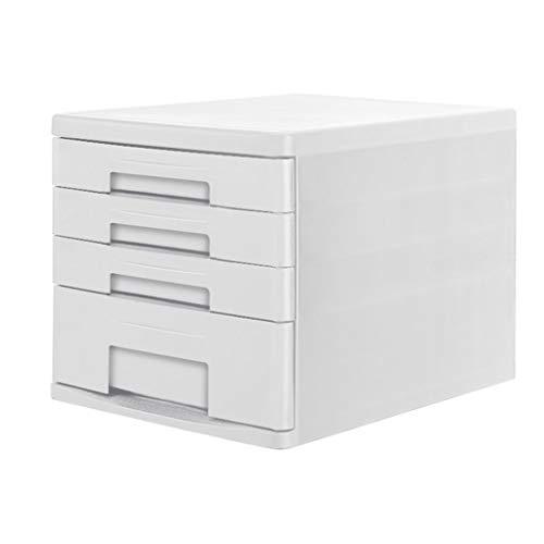 Ablagesysteme Ablagesystem Schreibtisch 4 Schubladenschrank Data Storage Cabinet File Storage Box Kunststoff büro Box 26.3X34X25cm Bürobedarf Schreibwaren (Color : Gray)