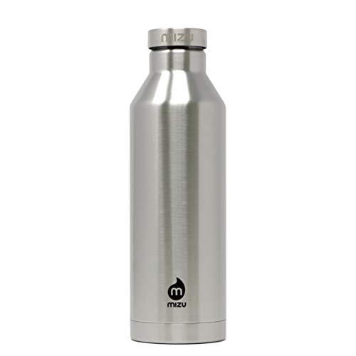 Mizu Doppelwandige Isolierte Trinkflasche V8 stainless and steel cap, silver, 760 ml, V08AMZANSBA