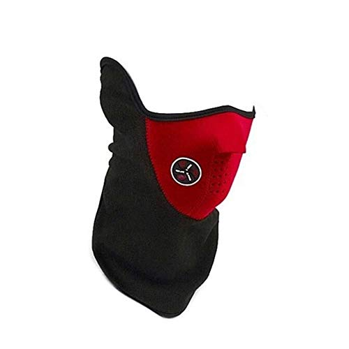 Générique Cache Nez Masque Tour de Cou Polaire pour Moto Ski Paintball Rouge