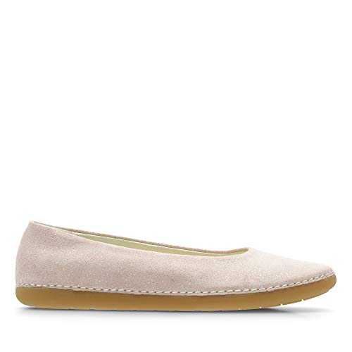 Clarks Mädchen Skylark Soar Y Geschlossene Ballerinas, Pink (Pink Sparkle Leather), 35.5 EU