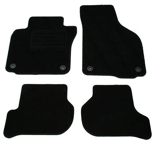 AD Tuning GmbH HG13039 Velours Passform Fußmatten Set Schwarz Autoteppiche Teppiche Carpet Floor mats