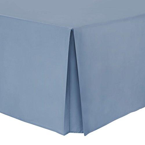 Hometexstyle–Faldón cubresomier 100% algodón de percal, 100% algodón, Cornflower Blue, matrimonio