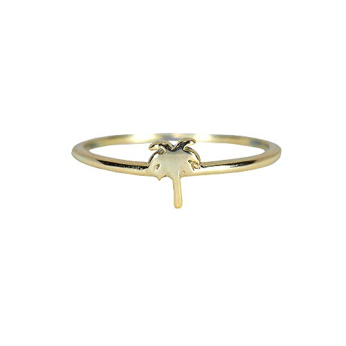 Pura Vida Gold Palm Tree Ring Size 9 - Gold Plated .925 Sterling Silver Ring