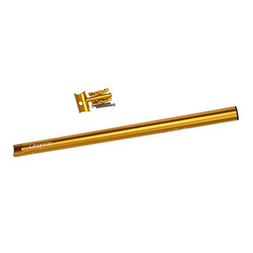 Sharplace Tija de Sillín de Bicicleta Plegable CNC 33,9x600mm para Reparación de Tubo de Poste de Sillín de Bicicleta Dahon - de Oro