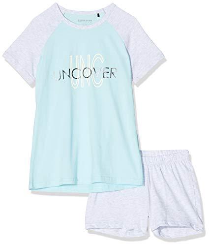 Schiesser Mädchen Anzug kurz Zweiteiliger Schlafanzug, Grau (Grau-Mel. 202), (Herstellergröße: 176)