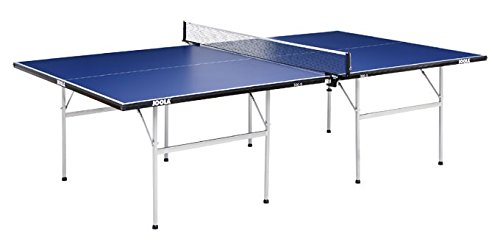 JOOLA Tischtennisplatte 300-S - Indoor Freizeit Tischtennistisch Einklappbares Untergestell - Blau 274 x 152,5 x 76 cm  15 mm Plattenstärke