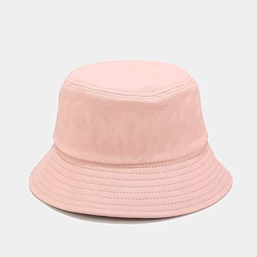 WAZHX Unisex Verano Sombrero De Cubo Plegable Mujeres Al Aire Libre Protector Solar Algodón Pesca Caza Gorra Hombres Bob Chapeau Sombreros De Sol Adult56-59Cm Rosa