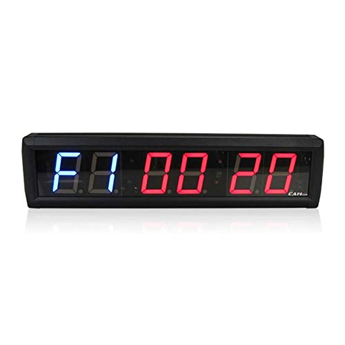 GAN XIN 2.3 Inch APP&Remote Control Digital LED Crossfit Programmable Training Interval Wall Timer, Count Up/Down TABATA/FGB1/FGB2 MMA Clock