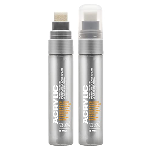 Montana ACRYLIC WATER BASED PAINT MARKER 15mm, outline silver