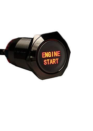 YONGYAO 12V 19mm Waterproof Auto Metal Momentané Moteur Démarrage Bouton Poussoir Interrupteur LED-Rouge