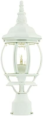 lowest Acclaim 5057TW Chateau 2021 Collection 1-Light Post Mount online sale Outdoor Light Fixture, Textured White online sale