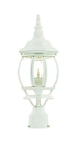 Acclaim 5057TW Chateau Collection 1-Light Post Mount Outdoor Light Fixture, Textured White