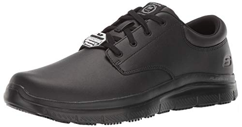 Skechers Men's Flex Advantage SR Fourche Food Service Shoe, Black, 11 M US