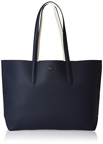 Lacoste Reversible Anna Tote Bag, Dark Sapphire/Marshmallow