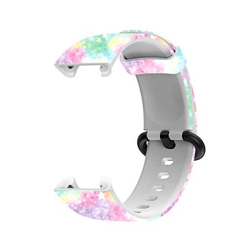 Pulseira esportiva de substituição para Redmi Mi Watch Lite pulseira de silicone impressa Huhudde