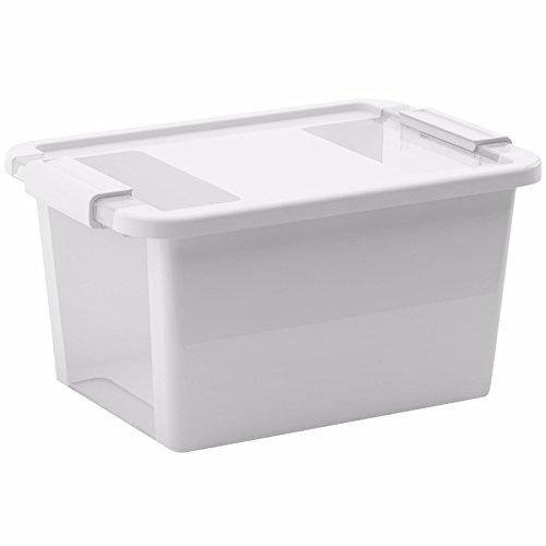 KIS Aufbewahrungsbox Bi Box 11 Liter in weiß-transparent, Plastik, 36.5x26x19 cm