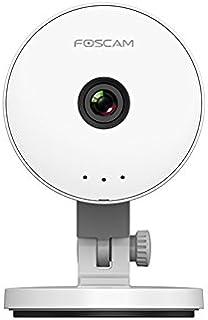 كاميرا فوسكام C1 لايت للمراقبة الامنية الداخلية مع قابس وخاصية الاشعة تحت الحمراء - ابيض