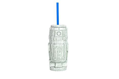 Geeki Tikis Star Wars R2-D2 Trinkbecher | Offizielles Star-Wars-Sammelstück aus Kunststoff im Tiki-Stil mit Deckel, Fassungsvermögen: 525 ml