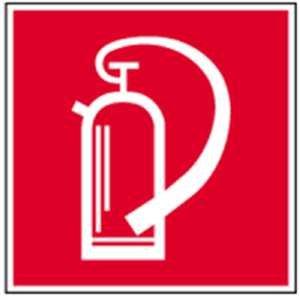 Aufkleber Feuerlöscher gemäß ASR A1.3 / BGV A8 Folie selbstklebend 10 x 10cm (Feuerlöschgerät, Brandschutzzeichen) wetterfest
