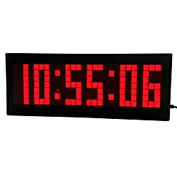 BTBSIGN LED Digital Countdown Wall Clock with Remote Gym Fitness Sport Timing Clock