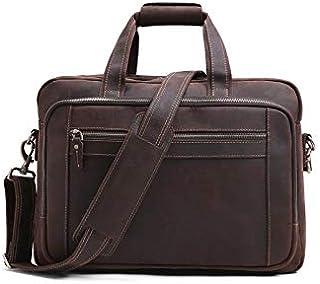 حقيبة ظهر Chliuchihjklstb، حقيبة للرجال 15.6 بوصة 17.18 بوصة حقيبة يد جلدية للعمل حقيبة كتف جلدية