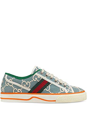 Gucci Luxury Fashion Donna 606110H0G103460 Azzurro Cotone Sneakers | Primavera-Estate 20