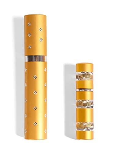 Lipstick Stun Gun with Pepper Spray for Self Defens (Gold)