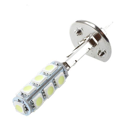 RJJ Wyfan 2 PCS Auto Light Far Footlight Lamp H1 White 13 SMD 5050 Fichas LED (Color : White)