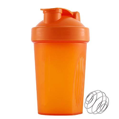 ZUHANGMENG - Vaso de proteína con bola agitadora, botella de agua deportiva de 400 ml, almacenamiento de contenedores para proteínas o suplementos, perfecto regalo de fitness para gimnasio