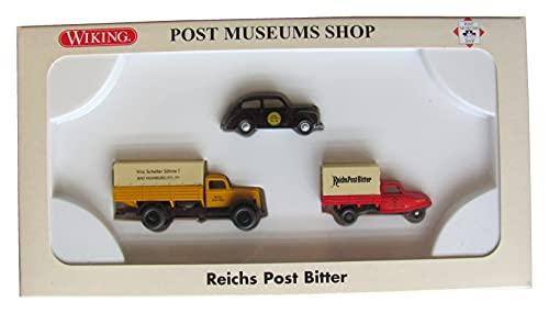 Wiking - Reichs Post Bitter - Ford 2500, Ford Taunus & Goliath-Dreirad - 3er Set - Oldtimer