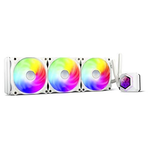 SilverStone(シルバーストーン) PERMAFROSTシリーズ アドレッサブル RGB対応 360mm 簡易水冷ユニット ホワ...
