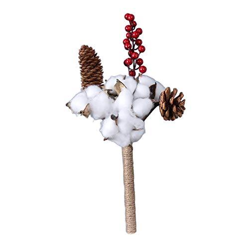 Fenteer Naturalna biała bawełniana łodyga suszona gałąź kwiatowa na jesienne aranżacje dom wiejski antyczny kwiatowy meble ślub Boże Narodzenie DIY dekoracja - bukiet