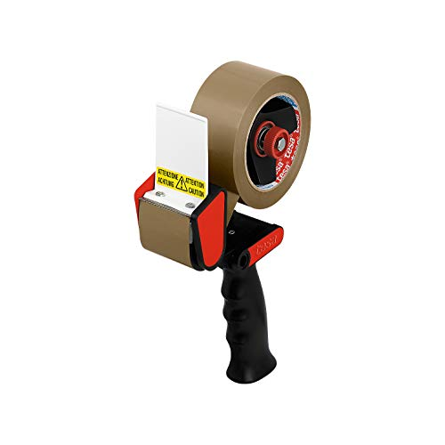 Tesapack Handabroller classic, ohne Klebeband, schwarz/rot