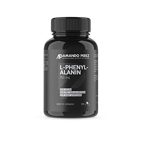 L-Phenylalanin 750 mg • 100 vegane Kapseln • Hochdosiert • Made in Germany