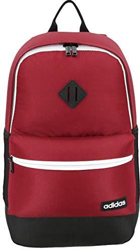 Adidas - Mochila Classic 3S - 976176, Talla única, blanco (Collegiate Burgundy/Black/Neo White)