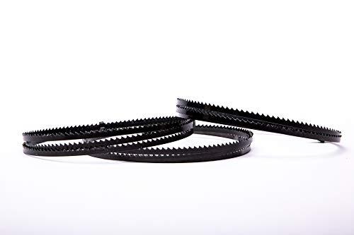 Juego de 3 hojas de sierra de cinta Encut de alto rendimiento, 1400 x 6 x 0,4 mm, 6 dientes de acero para sierra de cinta para Einhell, Atika etc. Adecuado para madera, acero, plástico etc.