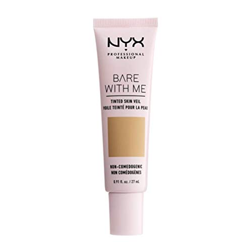 NYX Professional Makeup Bare With Me Tinted Skin Veil, BB-Creme, Feuchtigkeitsspendendes Aloe- und Gurkenextrakt, Von Hautpflege inspiriert, Leichte Abdeckung, Farbton: Beige Camel