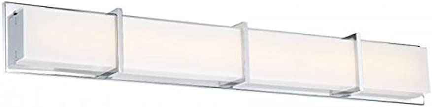 WAC Lighting WS-99840-CH Ratio Bathroom Vanity & Wall LED Light Fixture, 40 Inches, Chrome