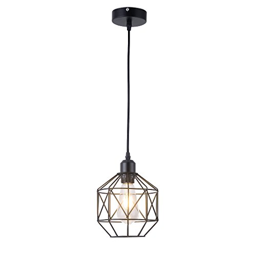 Pendant Light,Retro Style,Vintage Loft Design,Black Basket...