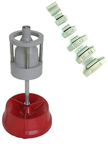 EQUIPEMENT EXPRESS SICOBA Equilibreuse de Roue Manuelle Portable avec Centreur + 150 Plombs Masse à Frapper 5-30gr