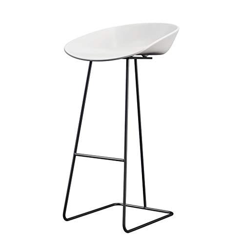 Decoratieve stool hoge kruk, metaal One met voetsteun van kunststof kruk Home keuken Western restaurant café horeca kruk zithoogte 65 cm / 70 cm / 75 cm