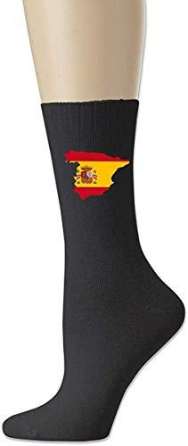 HNJZ-GS Hombres Mujeres Bandera de España Plaza De Col & oacute; n Bandera de Alemania Bandera Nacional Clásicos Algodón Calcetines Deportivos