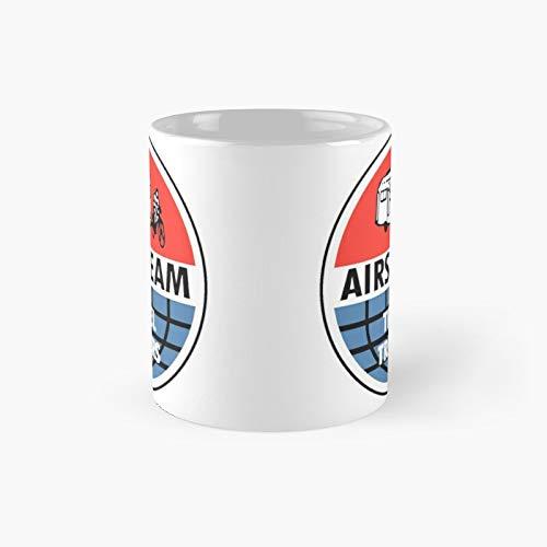 Airstream Travel Trailer Vintage Decal Classic Mug | Best Gift Funny Coffee Mugs 11 Oz